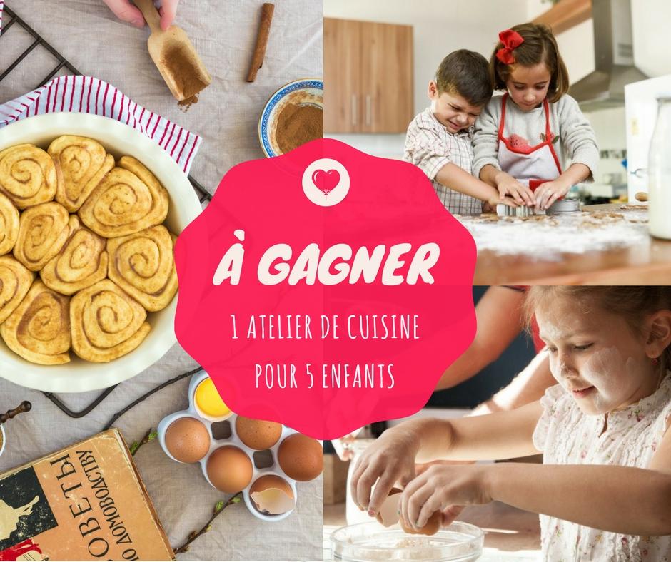Kiddyresto - Jeu concours - atelier culinaire à gagner à l'Et-caetera